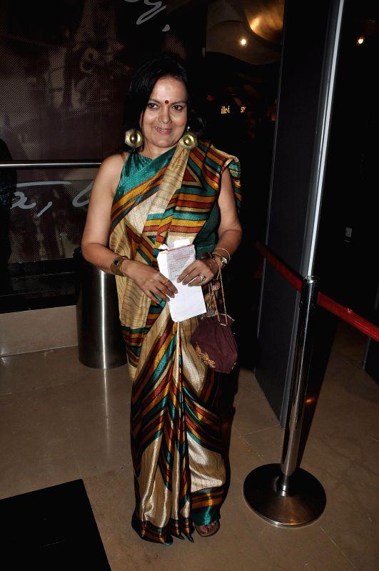 Actor Sushmita Mukherjee during the screening of Hollywood film The Hundred-Foot Journey in Mumbai on August 7, 2014. - Sushmita Mukherjee