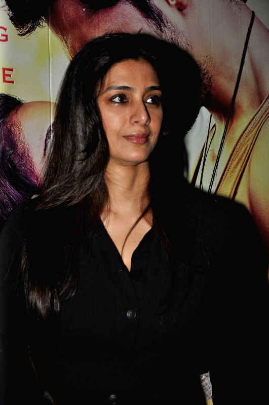 Actor Tabu during the special screening of the movie Ek Villain in Mumbai on June 24, 2014. - Tabu