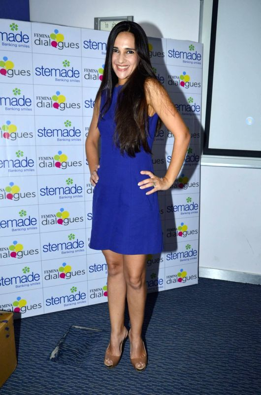 Actor Tara Sharma during a interactive session on The Femina Dialogue - Celebrating Mother's Day & Child Healthcare Initiative in Mumbai on May 09, 2014.