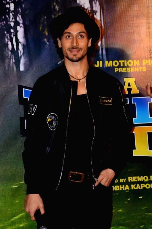 Actor Tiger Shroff during the launch song, Beat pe Botty, from film A Flying Jatt, in Mumbai, on Aug 5, 2016. - Tiger Shroff
