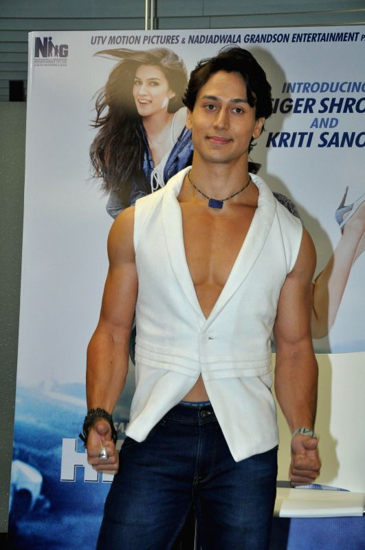 Actor Tiger Shroff during the music launch of the movie Heropanti  at Andheri in Mumbai on April 12, 2014. - Tiger Shroff