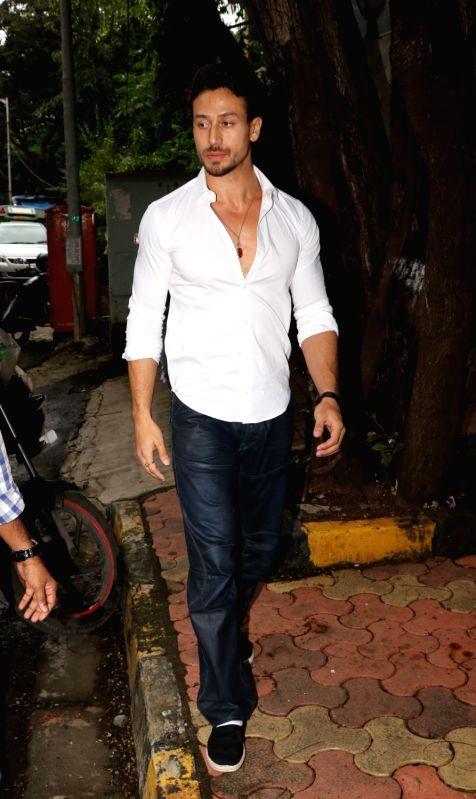 Actor Tiger Shroff seen at director Sanjay Leela Bhansali's office in Juhu, Mumbai on July 25, 2018. - Tiger Shroff