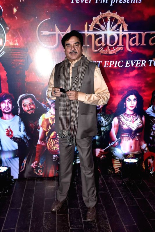 Actor turned politician Shatrughan Sinha during a programme in Mumbai on Oct 30, 2018.