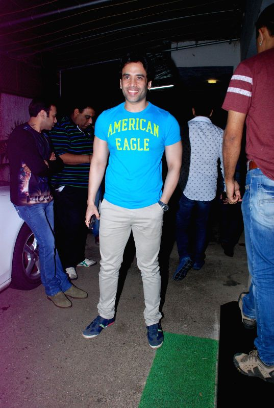 Actor Tusshar Kapoor during the screening of the film Entertainment in Mumbai on Aug 6, 2014. - Tusshar Kapoor