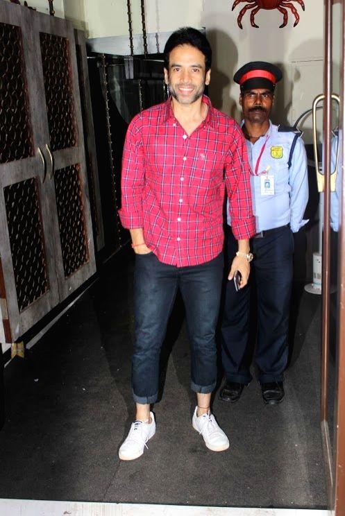 Actor Tusshar Kapoor spotted at Ekta Kapoor`s birthday bash, in Mumbai on June 7, 2017. - Tusshar Kapoor and Ekta Kapoor