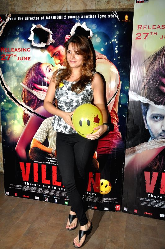 Actor Udita Goswami during the special screening of the movie Ek Villain in Mumbai on June 24, 2014. - Udita Goswami