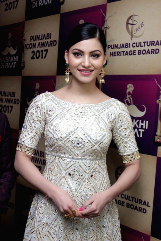 Actor Urvashi Rautela during Punjabi Icon Awards in Mumbai on April 13, 2017.