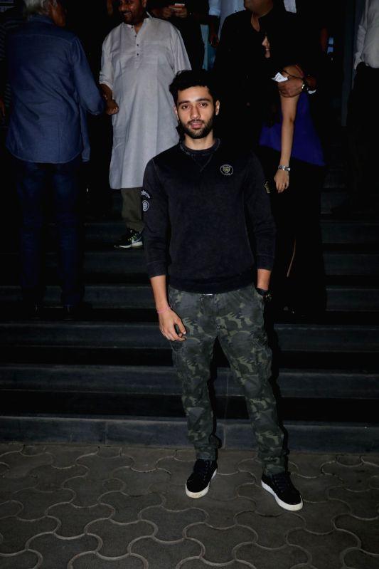 """Actor Utkarsh Sharma at the special screening of film """"Mulk"""" in Mumbai on Aug 2, 2018. - Utkarsh Sharma"""