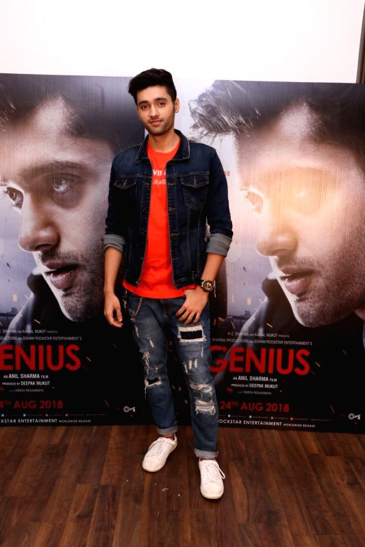 "Actor Utkarsh Sharma during the promotion of his upcoming film ""Genius"" in Mumbai on Aug 10, 2018. - Utkarsh Sharma"
