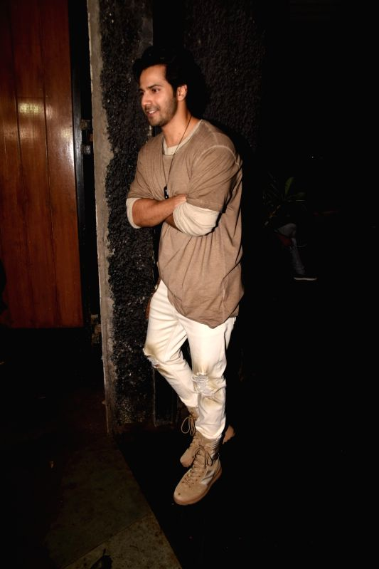 Actor Varun Dhawan at actress Bhumi Pednekar birthday celebration in Mumbai on July 17, 2018. - Varun Dhawan