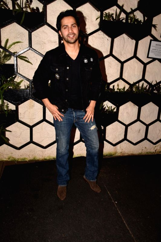 Actor Varun Dhawan  at the producer Dinesh Vijan birthday celebration in Mumbai on July 26, 2018. - Varun Dhawan