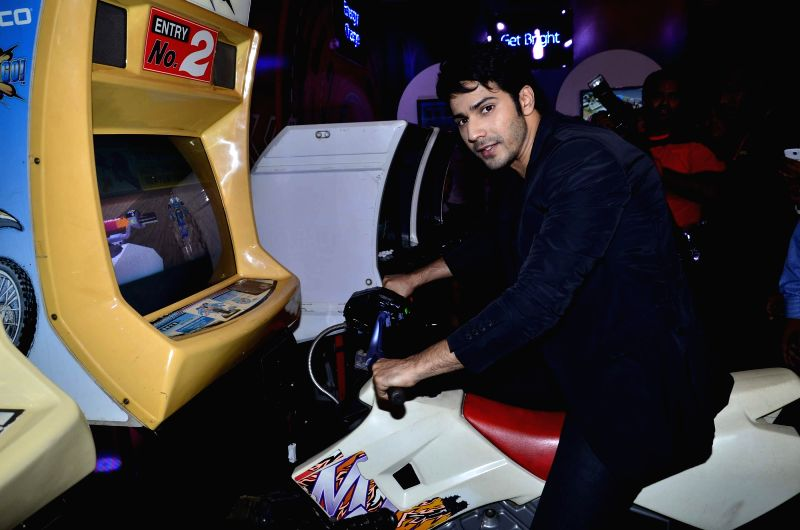 Actor Varun Dhawan during the launch of the Ponds Men range in Mumbai, on May 8, 2014.