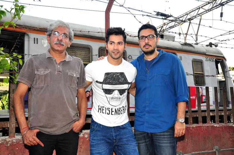 Actor Varun Dhawan during the promotion of upcoming film Badlapur at Getty cinema in Mumbai, on Dec 4, 2014.