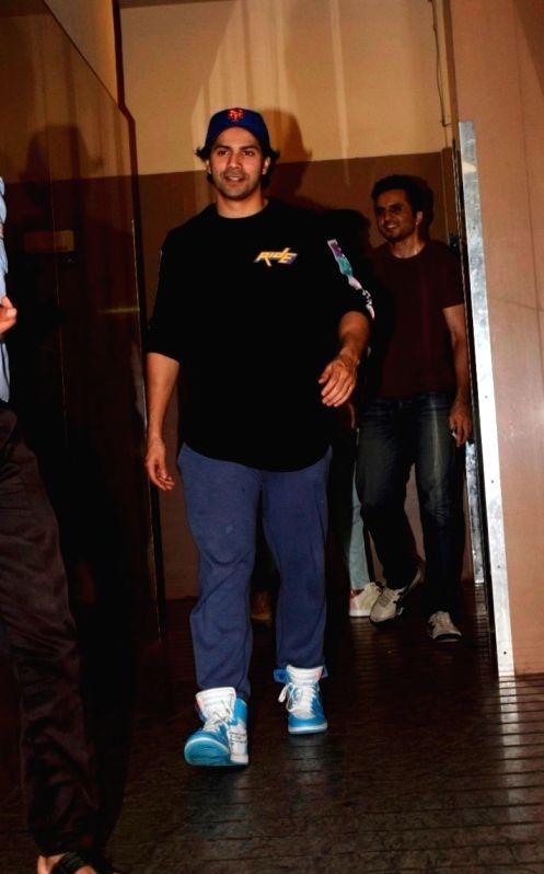 Actor Varun Dhawan seen at a cinema theatre in Juhu, Mumbai on July 27, 2018. - Varun Dhawan