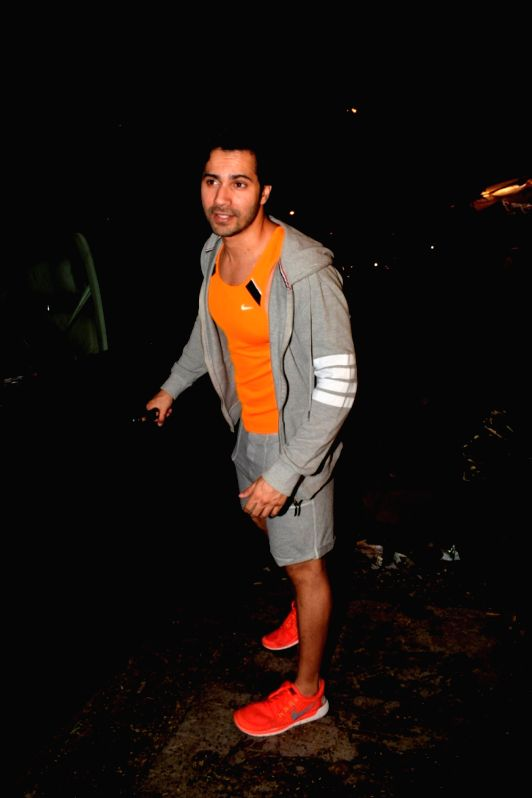 Actor Varun Dhawan seen at a gym in Juhu, Mumbai on July 12, 2018. - Varun Dhawan