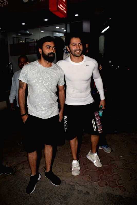 Actor Varun Dhawan seen at director Shoojit Sircar (left) office in Mumbai on Feb 1, 2018. - Varun Dhawan