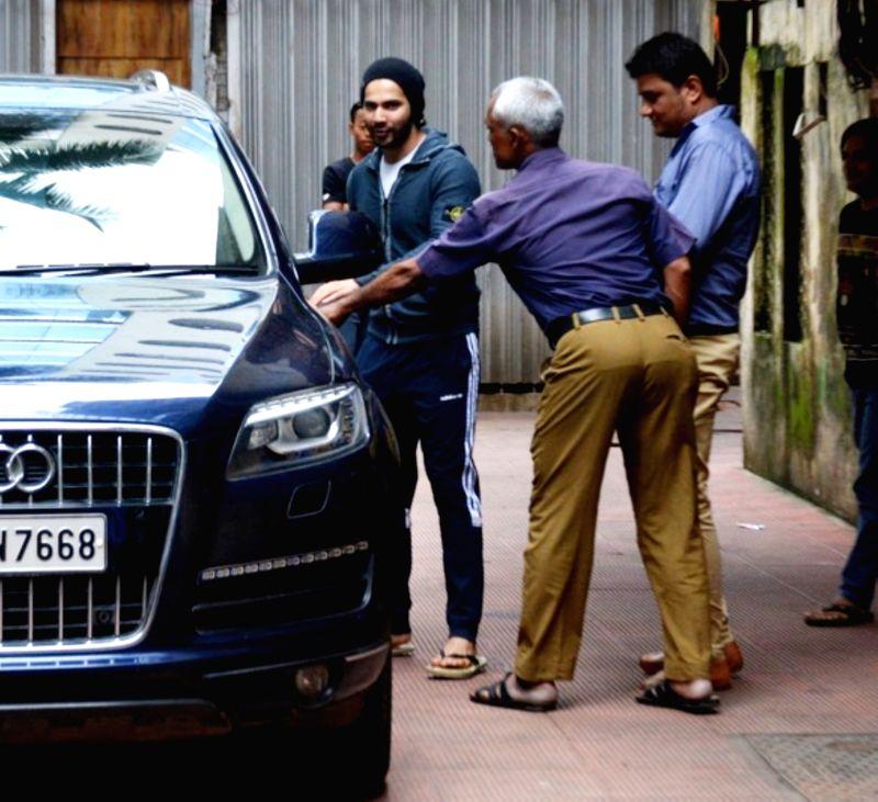 Actor Varun Dhawan seen at Mumbai's Bandra on Aug 7, 2018. - Varun Dhawan