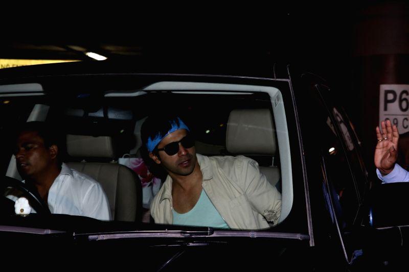 Actor Varun Dhawan spotted at airport in Mumbai on May 24, 2017. - Varun Dhawan