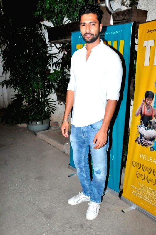 Actor Vicky Kaushal during the screening of Kannada film Thithi, in Mumbai, on May 30, 2016. - Vicky Kaushal