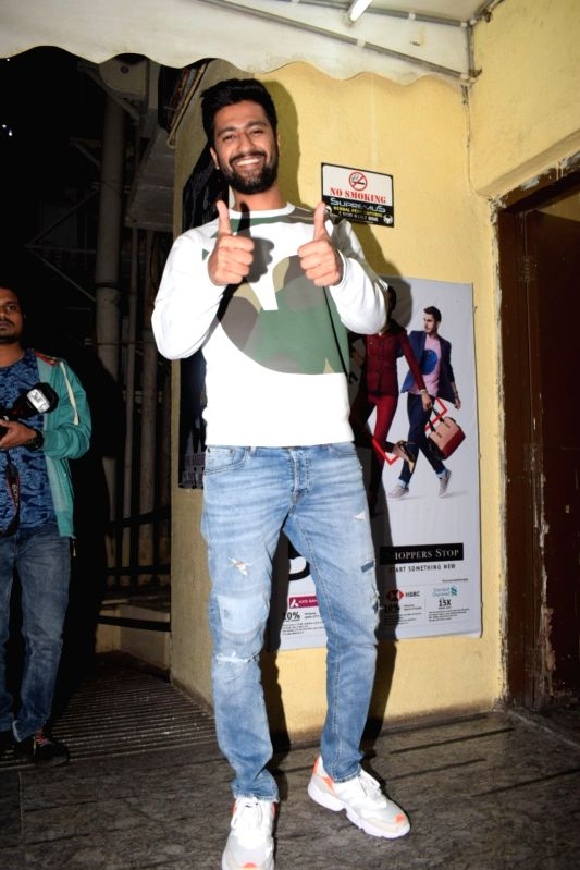 "Actor Vicky Kaushal during the screening of film ""Uri"", in Mumbai on Jan 9, 2019. - Vicky Kaushal"