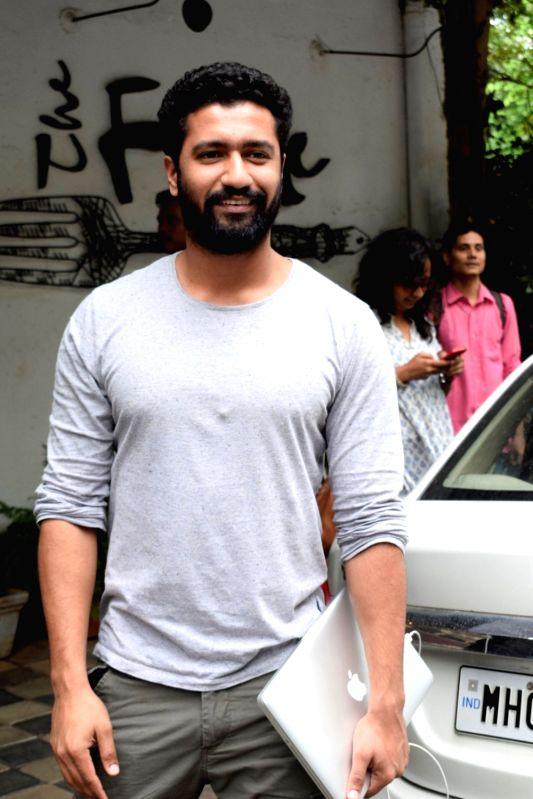 Actor Vicky Kaushal seen at Mumbai's Juhu on Aug 7, 2018. - Vicky Kaushal