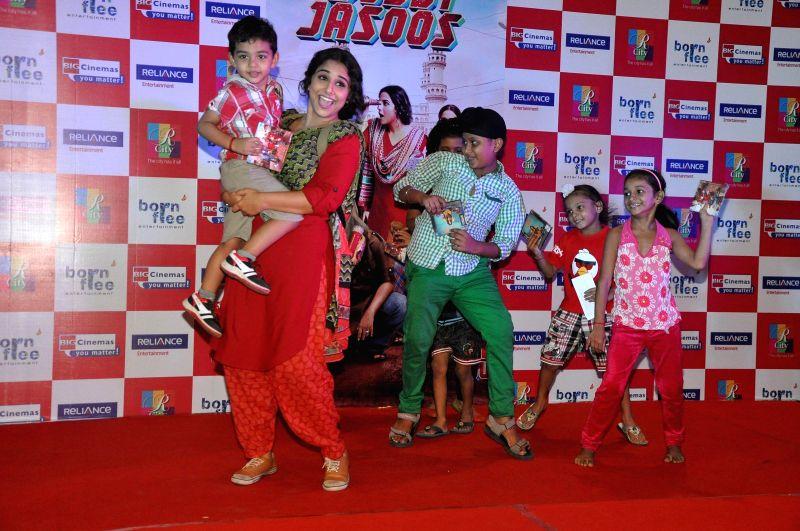 Actor Vidya Balan during promotion of film Bobby Jasoos at R City mall in Mumbai, on July 4, 2014. - Vidya Balan