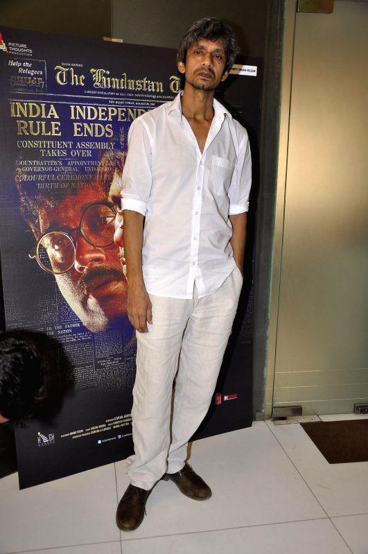 Actor Vijay Raazi during a media interaction of film Kya Dilli Kya Lahore in Mumbai on April 28, 2014. - Vijay Raazi