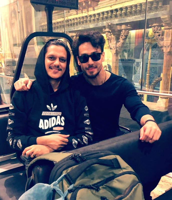 Actor Vijay Varma, who is currently shooting for 'Baaghi 3' along with Tiger Shroff in Serbia, says he is having a gala time with the latter on the sets.