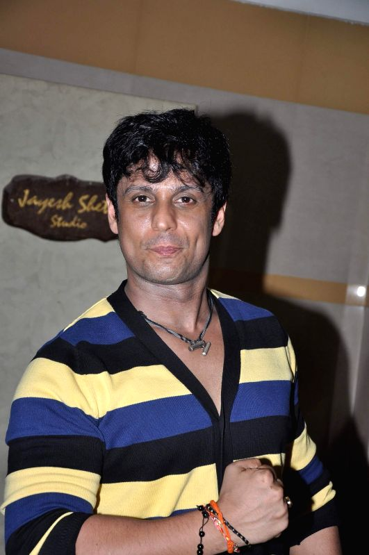 Actor Vikram Singh during the media interaction about his upcoming film Heeropanti in Mumbai on May 12, 2014.