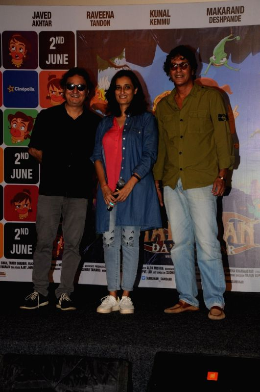 Actor Vinay Pathak, filmmaker Ruchi Narain and Chunky Pandey during the song launch of Lakdi Ki Kathi from the film Hanuman Da' Damdaar in Mumbai, on May 18, 2017. - Vinay Pathak and Pandey