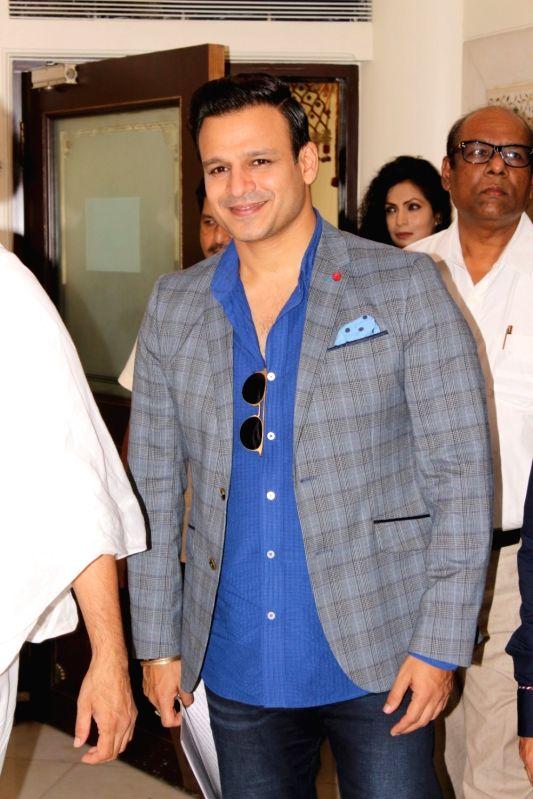 Actor Vivek Oberoi during a press conference regarding World Peace Conclave in Mumbai, on Aug 11, 2017. - Vivek Oberoi
