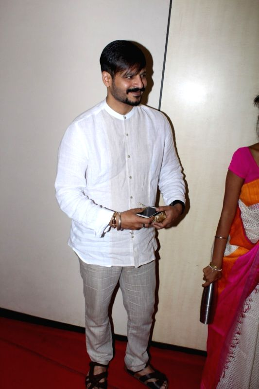 Actor Vivek Oberoi during spiritual talk by Brahma Kumari sister Shivani on Inner Peace and Inner Power in Mumbai, on May 21, 2017. - Vivek Oberoi