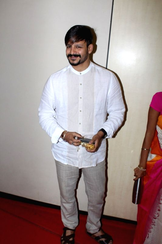 Actor Vivek Oberoi during the Spiritual Talk and Felicitation on May 21, 2017. - Vivek Oberoi