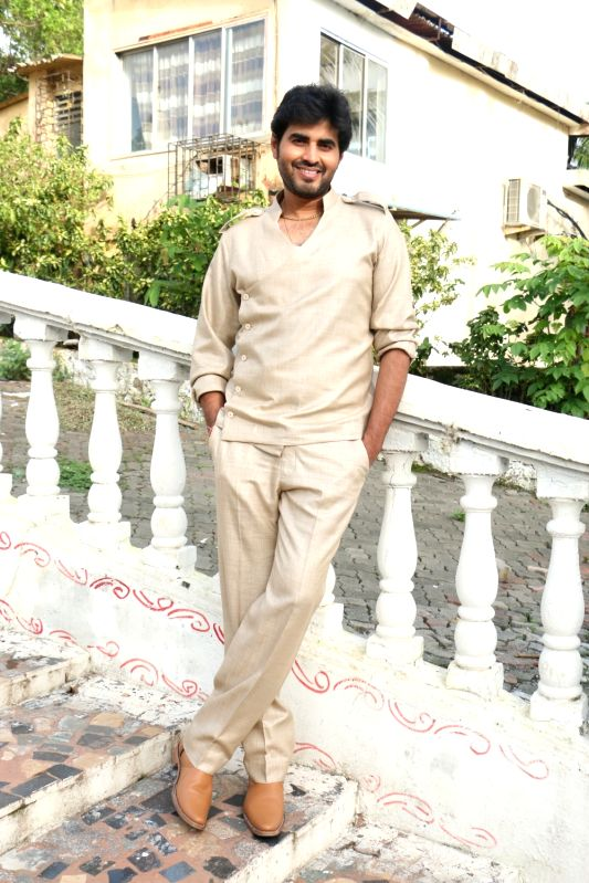 "Actor Yash Sinha during the shooting of film ""Dhappa"", in Mumbai on July 3, 2017."