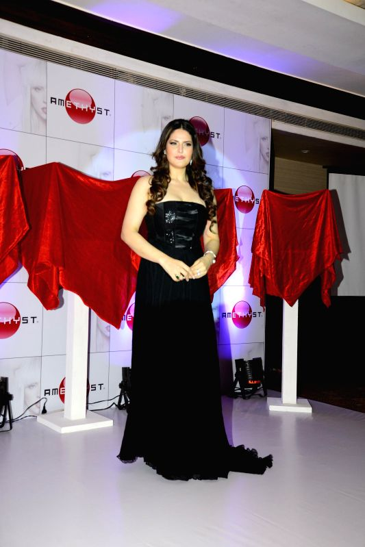 Actor Zareen Khan during the launch of Amethyst blue tooth speakers in Mumbai on June 25, 2014.