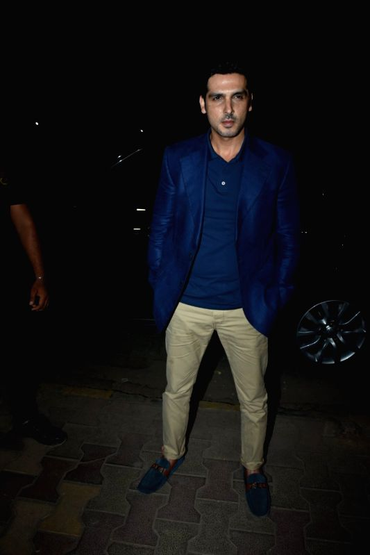 Actor Zayed Khan at a store launch in Mumbai on April 13, 2018 . - Zayed Khan
