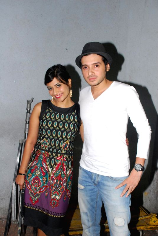 Actors Aditi Sharma and Divyendu Sharma during the promotion of film Ekkees Toppon Ki Salaami at Udaan 2014 in Mumbai, on Aug. 17, 2014. - Aditi Sharma and Divyendu Sharma