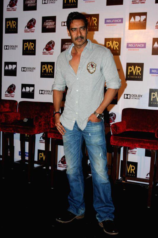 Actors Ajay Devgan during the launch of film Singham Returns in Mumbai on 30 July 2014. - Ajay Devgan