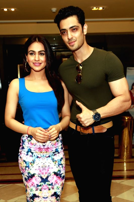 "Actors Aksha Pardasany and Kashyap Barbhaya during the promotion of their upcoming film ""Love U Family"" in New Delhi on June 6, 2017. - Aksha Pardasany and Kashyap Barbhaya"