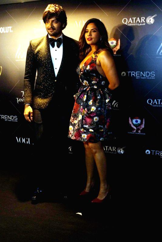 "Actors Ali Fazal and Richa Chadha at the red carpet of ""Vogue Beauty Awards"" in Mumbai on July 31, 2018. - Ali Fazal and Richa Chadha"