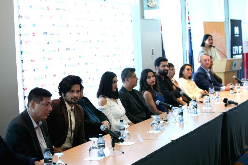Actors Ali Fazal, Vicky Kaushal and Rani Mukerji at the Indian Film Festival of Melbourne (IFFM) in Melbourne on Aug 10, 2018. - Ali Fazal, Vicky Kaushal and Rani Mukerji