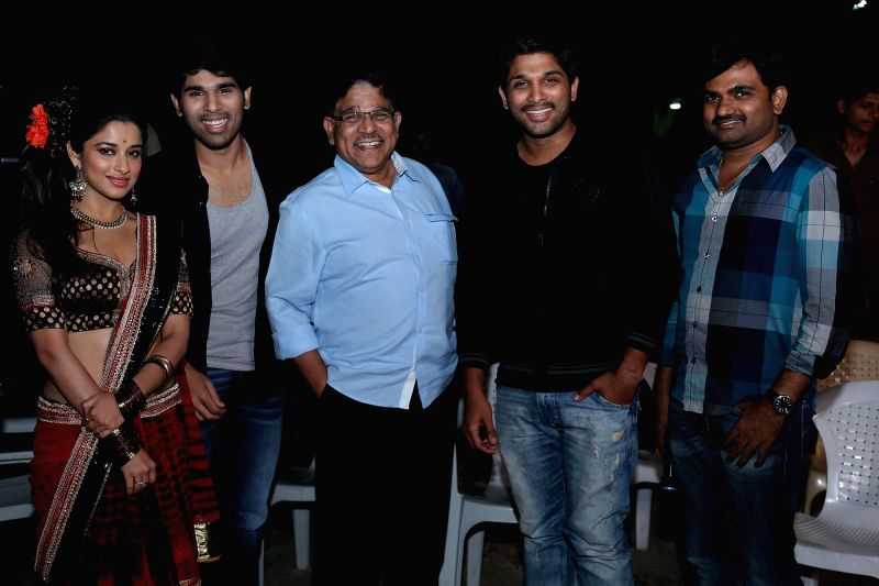 Actors Allu Sirish and Regina Cassandra  acted telugu Kotha Janta Movie Making Stills  : Kotha is an upcoming Telugu film directed by Maruthi and produced by Bunny Vasu on the prestigious Geetha Arts - Allu Sirish and Regina Cassandra