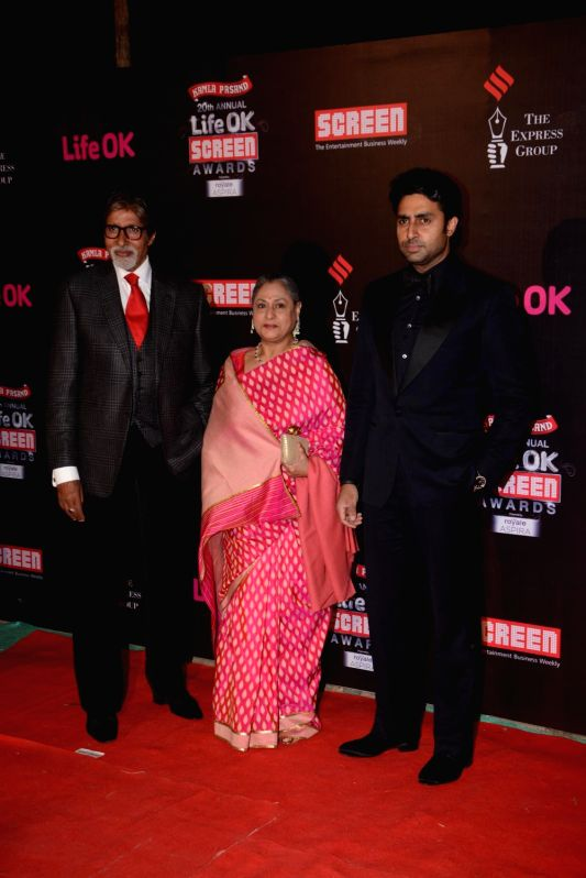 20th Annual Life OK Screen Awards - Amitabh Bachchan, Jaya Bachchan and Abhishek Bachchan