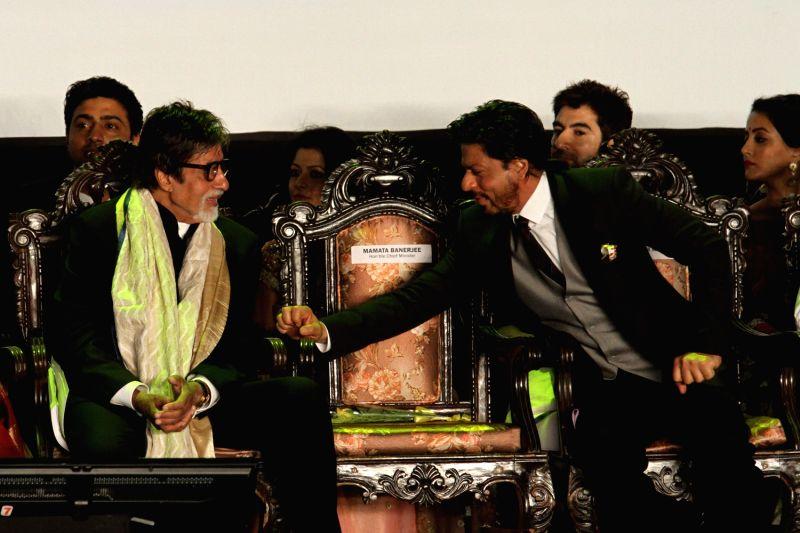 Inauguration of 19th Kolkata International Film Festival - Amitabh Bachchan, Shahrukh Khan, Dev, Jeet, Raima Sen and Koel Mallick