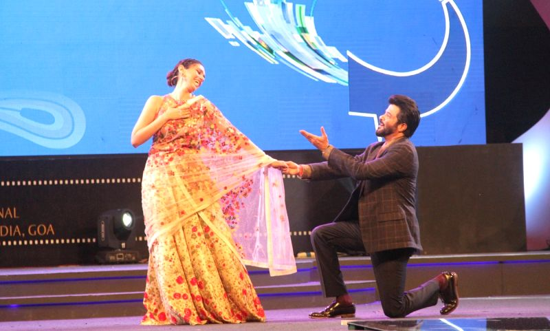 Actors Anil Kapoor and Aditi Rao Hydari perform at the inauguration of the 46th International Film Festival of India (IFFI-2015), in Panaji, Goa on Nov 20, 2015. - Anil Kapoor and Aditi Rao Hydari