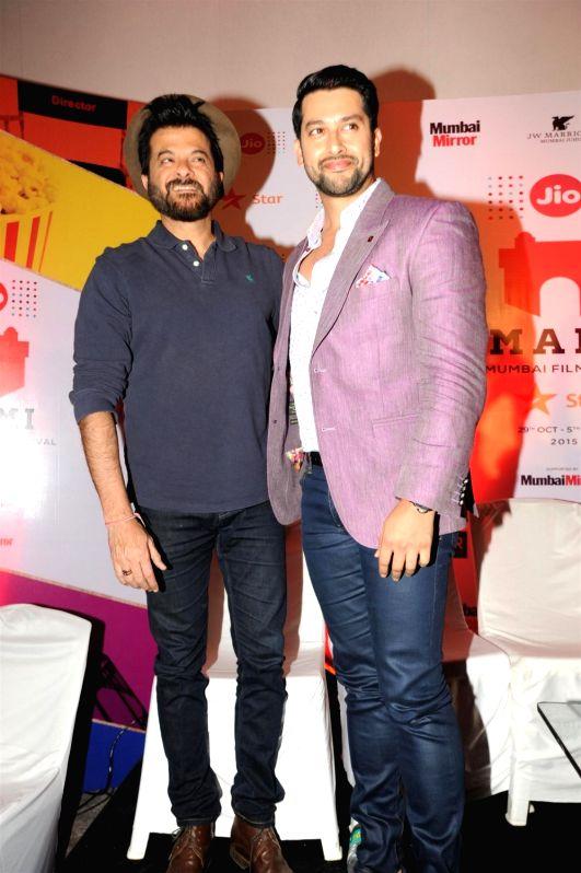 Actors Anil Kapoor and Aftab Shivdasani at the 2nd day of Jio MAMI 17th Mumbai Film Festival in Mumbai on Oct 31, 2015. - Anil Kapoor and Aftab Shivdasani