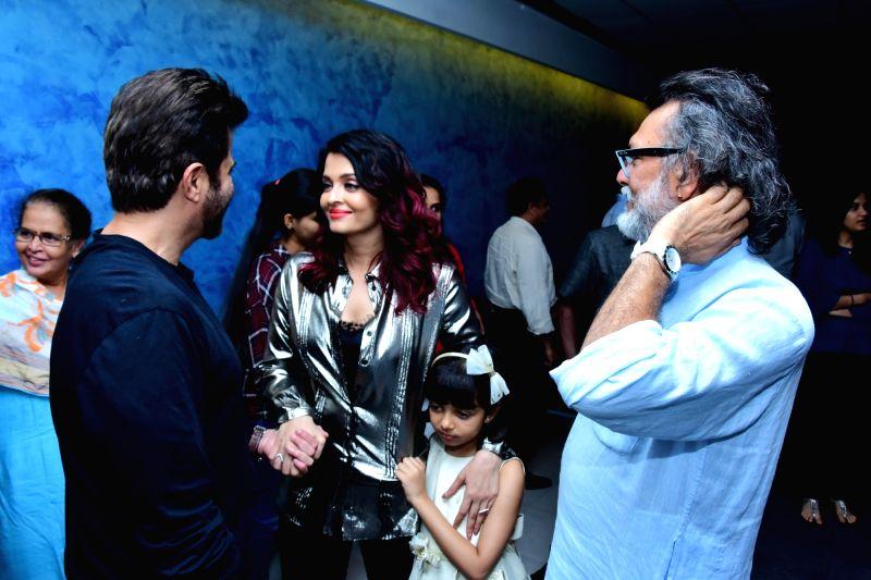 "Actors Anil Kapoor, producer Rakeysh Omprakash Mehra and Aishwarya Rai Bachchan along with her daughter Aaradhya Bachchan at the special screening of film ""Fanney Khan"" in Mumbai on ... - Anil Kapoor, Aishwarya Rai Bachchan, Aaradhya Bachchan and Fanney Khan"