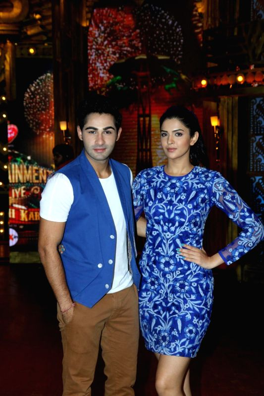 Actors Armaan Jain and Deeksha Seth on the sets of Entertainment Ke Liye Kuch Bhi Karega to promote upcoming film Lekar Hum Deewana Dil in Mumbai on June 30, 2014. - Armaan Jain and Deeksha Seth