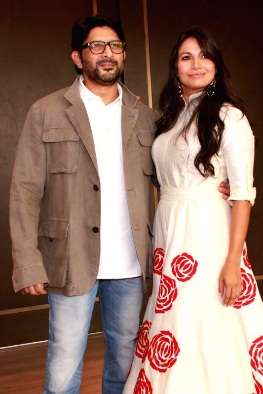 Actors Arshad Warsi with wife Maria Goretti at the launch of Maria Goretti`s book `From My Kitchen` in New Delhi on Nov 15, 2015. - Arshad Warsi