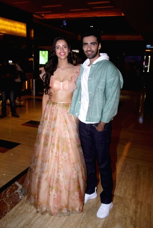 "Actors Avinash Tiwary and Tripti Dimri at the trailer launch of their upcoming film ""Laila Majnu"" in Mumbai on Aug 7, 2018. - Avinash Tiwary and Tripti Dimri"